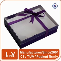 outstanding custom logo clear window gift boxes for towels
