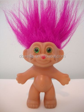 Custom PVC hairly Indian troll doll