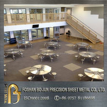 Alibaba china customized restaurant furniture stainless steel table, metal furniture fabrication