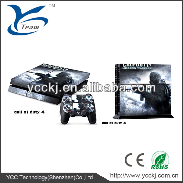 high quality manufactory skin sticker cover for sony playstation PS4 sonsole and 2 controller vinyl pvc sticker