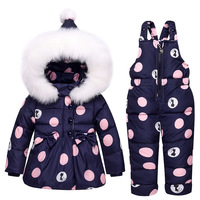 Newborn Winter 2 Pcs Girls Down Coat Baby Clothes Set