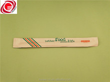 customizable bamboo one time use bamboo chopstick with paper sleeve