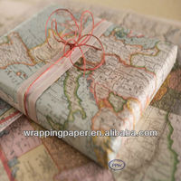 World Map Wrap Gift Wrapping Paper Design Sheets