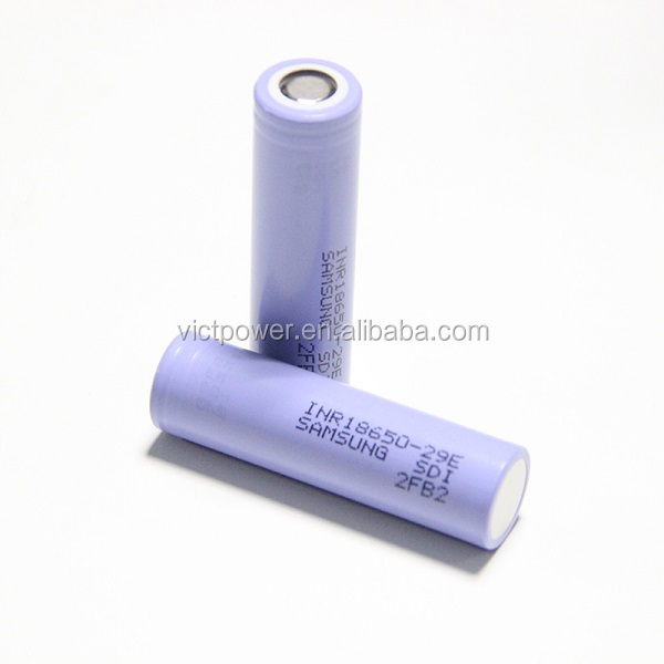 lithium battery cell INR18650-29E 3.7V 2900mAh 18650 rechargeable for samsung
