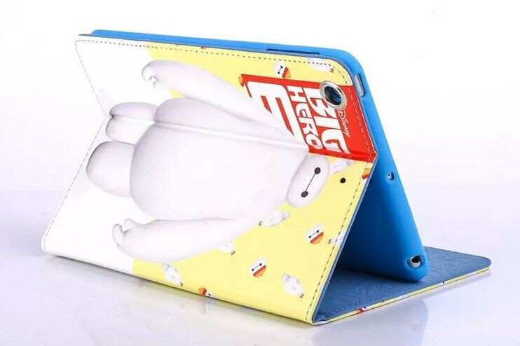 PU leather tablet cover for ipad mini Leather printed business pad case