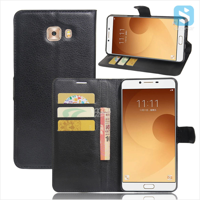 Low Price PU Leather Wallet Case for SAMSUNG Galaxy C9 Pro