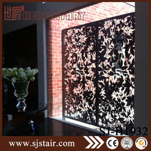 Laser cut room divider partition perforated metal screen wall