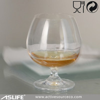 ASG1906-170ml 6oz Color Box Packing Available The Brandy Drinking Short Snifter Cup!Novelty Short Stem Brandy Snifter Shot Glass