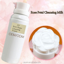 OEM/ODM Cleansing Moisturizing Soothing Face Cleanser Bubble 3D Rose Cleansing Foam