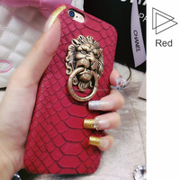 Wholesale Phone Cases fancy cell phone cases Lion snake pu case for iPhone 5s/6/6 Plus