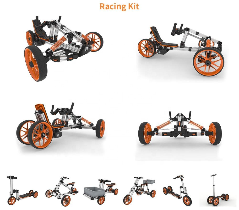 DIY Creative Ride On Toy Style and Battery Power kids electric motorcycle Go Kart <strong>Trike</strong> Bike (ten in one)