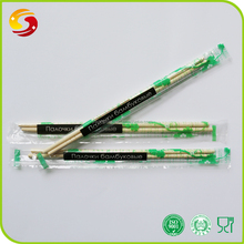 Disposable environmental bamboo chopsticks with personalized wrapper