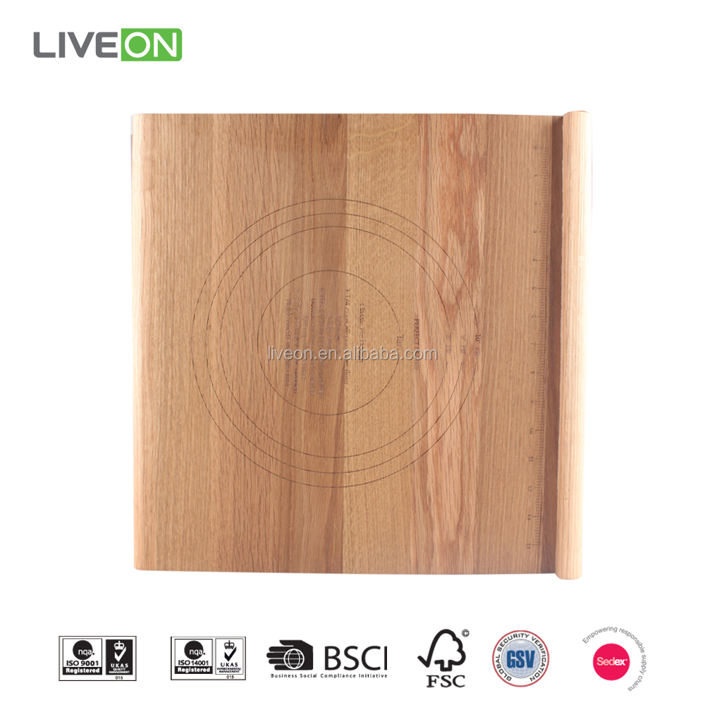 Quality Oak Wood Cutting Board With Detailed Scale