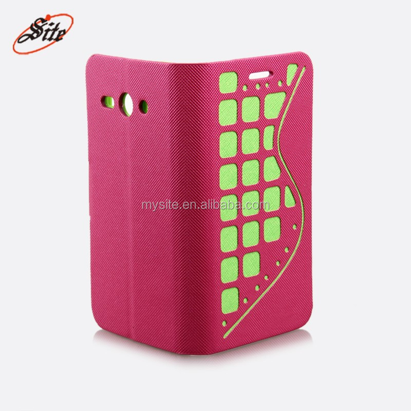 NEW Luxury leather + TPU cell phone Case For Hua Wei cm990