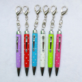 Promotional Keychain Pen Mini Twist Metal Crystal Ball Pen With Rhinestone Novelty Ball Point Pen
