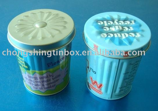 Metal tin can for food packing