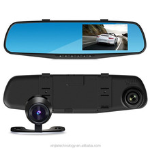 New Arrival Full HD 1080P 4.3 inch 140 Degree A+ Grade Wide Angle Lens Dual/Single Camera Rearview Mirror Car Camera DVR