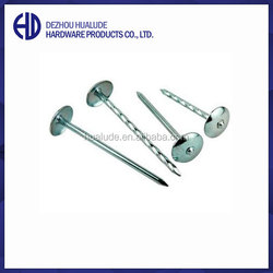 Competitive price umbrella head roofing nails directly manufacturer