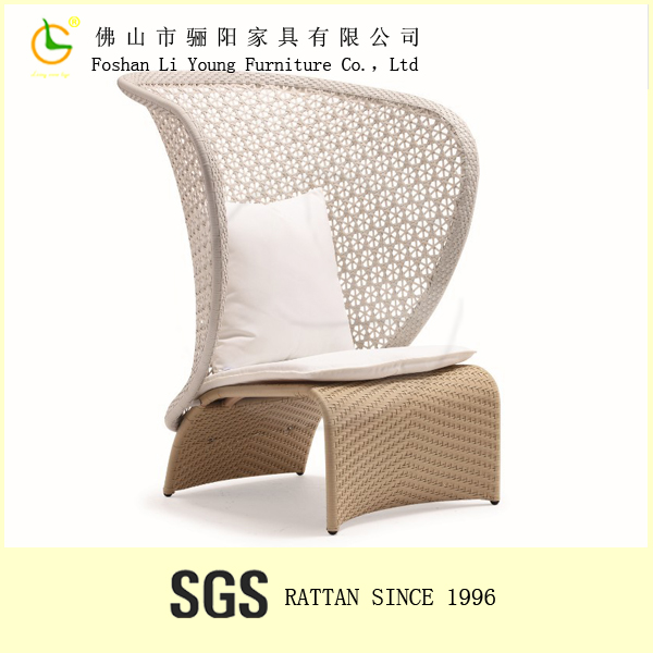 Modern Fabric Comfortable Rattan Outdoor Patio Furniture , High Quality Simple Design High Back Sofa Rattan Sofa Furniture Set