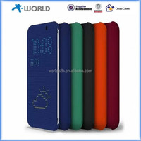 Mesh Dot View Flip Case cover For HTC one M8