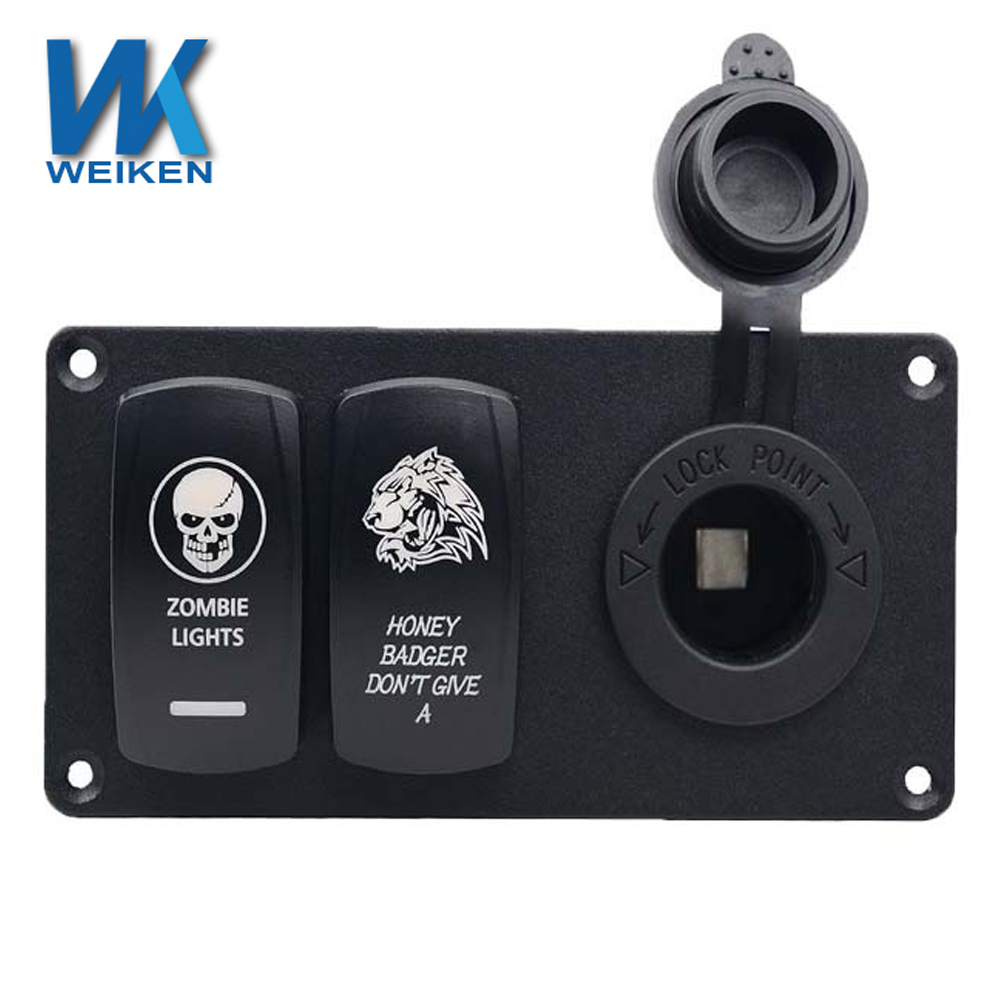 Weiken Car Accessories Rocker Aluminum Material 5pin Double Switches ...