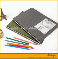 China made drawing spiral custom cover A3 sketch book