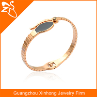 BL01062 wholesale fashion jewelry stainless steel low cost rose gold bracelets