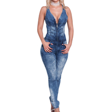 Sexy New Women's Denim Blue Jeans Jumpsuit Overall Skinny Slim