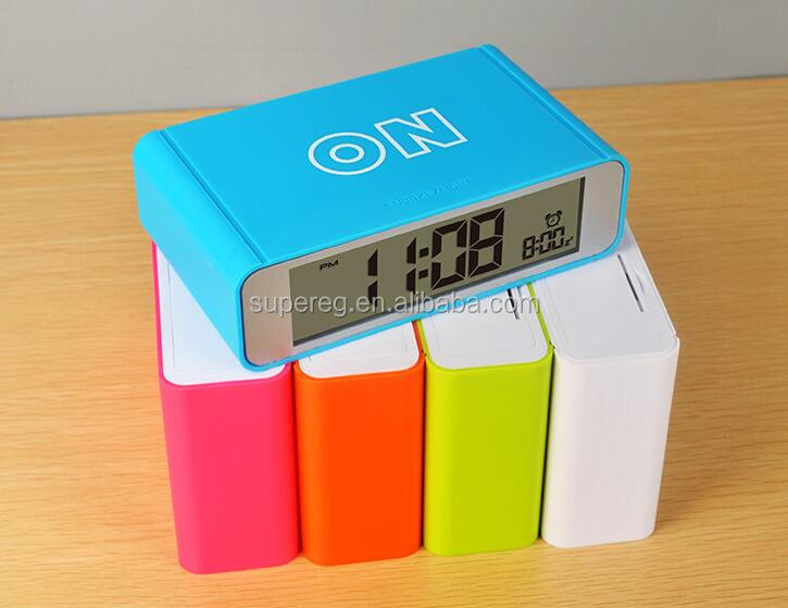 Creative Colorful Design LED Turning Alarm clock, Simple fashion luminous intelligence turnover clock for students