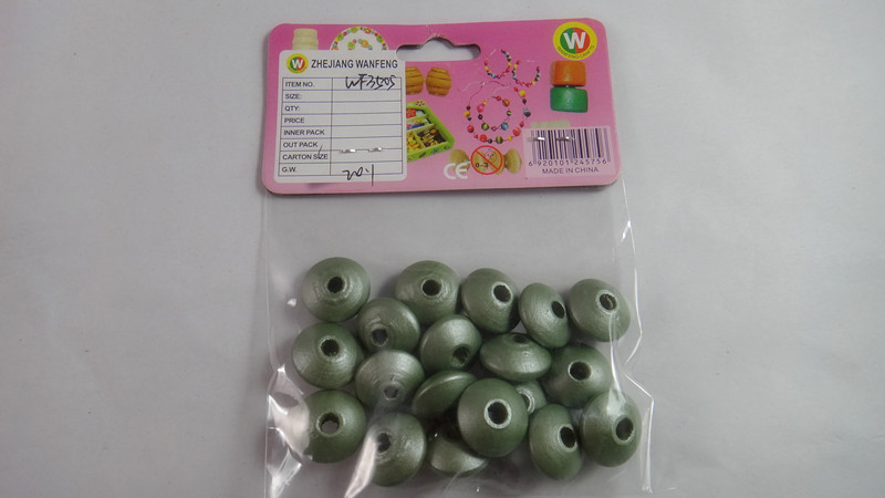 fashion wood loose beads for toothpick crafts