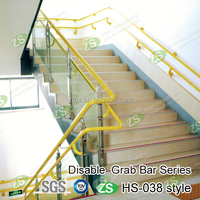 Nylon covered galvanized stainless steel pipe handrail for stairs