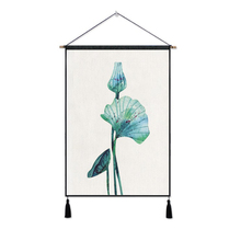 Sublimation lotus leaf printing high quality hotel wall decor