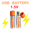 2016 New AA Size Dry Battery USB Rechargeable Battery Super Power 1.5V Battery