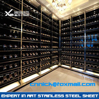 2016 new design customized wine rack stainless steel
