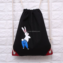 Photo Printing Cotton Drawstring Backpack, Cotton Fabric Drawstring Backpack Bag, Plain Cotton Backpack