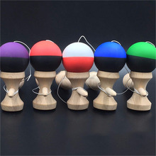 High Quality Safety Crack Pattern Toy Bamboo Kendama Best Wooden Educational Toys Kids Toy
