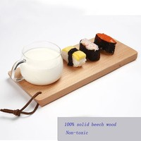 Kitchen Tools Wood Sushi Cake Biscuit Plate,Tableware Plate Holder Breadboard Dongguan Supply