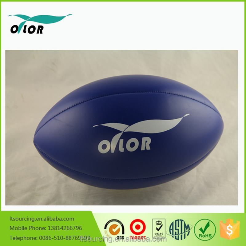 Best size 5 machine sewn custom made pvc leather rugby ball