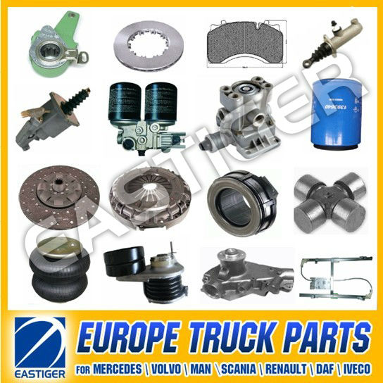 Over 500 items DAF truck spare parts