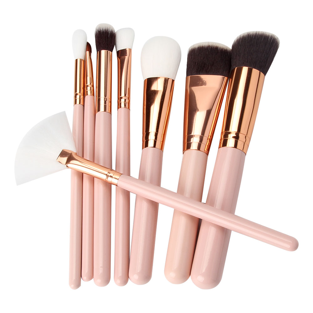 Cheap creative fashion custom logo cosmetic blush brush vegan make up brushes