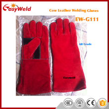 16 inch long Kevlar stitched Red Cow Split Leather Welding Gloves