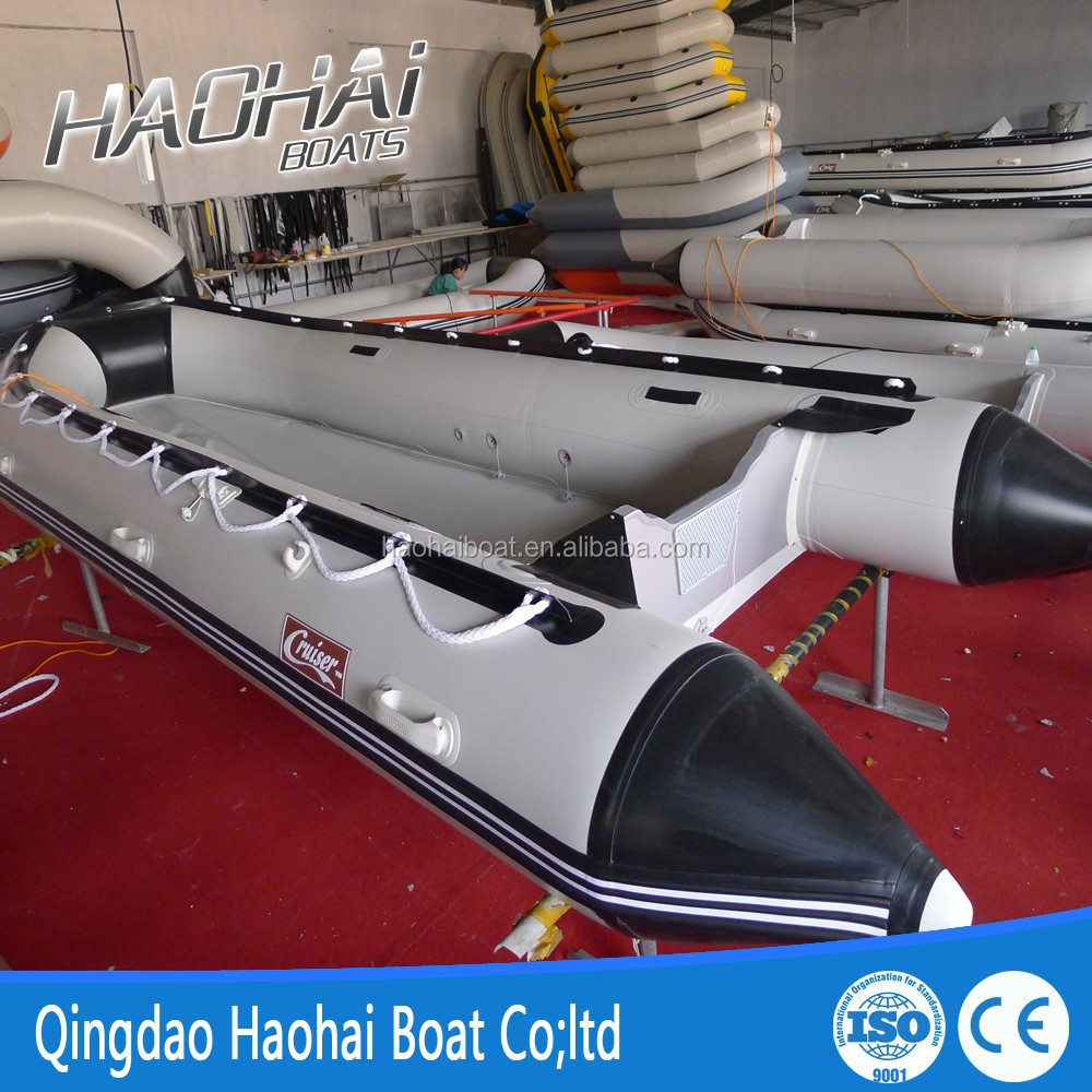4.7m 9 person inflatable rowing boat with aluminum floor