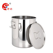 Big capacity dairy farm stainless steel cylindrical milk cans/ milk bucket / milk container with lid
