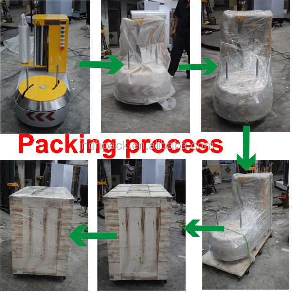 Stretch Film Automatic Airport Luggage Wrapping Machine hot selling with CE 008615215316080