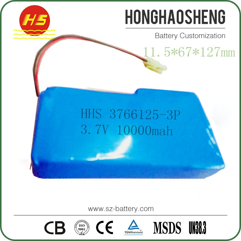 Lithium-Ion Polymer Battery 3.7v 10000mAh