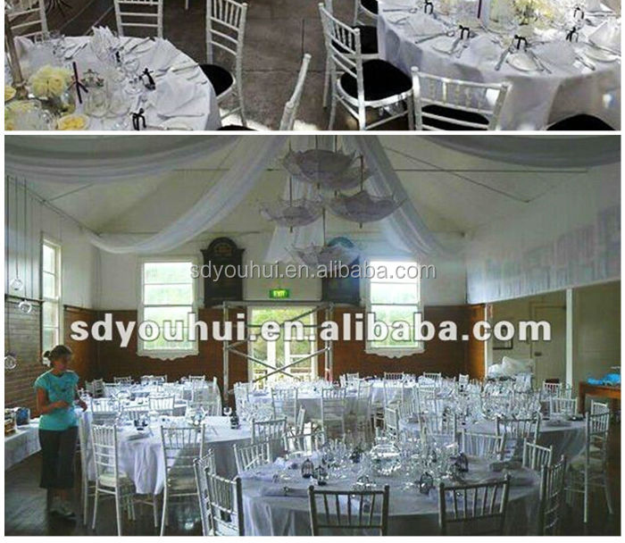 Most competitive price American style golden metal tiffany chair / wedding chiavari chair