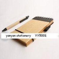 Eco Friendly Recycled Paper Pen Notebook