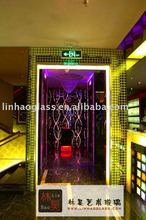 luminous glass corridor, decorative glass corridor