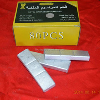 Square silver electric shisha charcoal