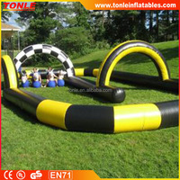 custom inflatable race track/ inflatable runway/ inflatable race car track for kids